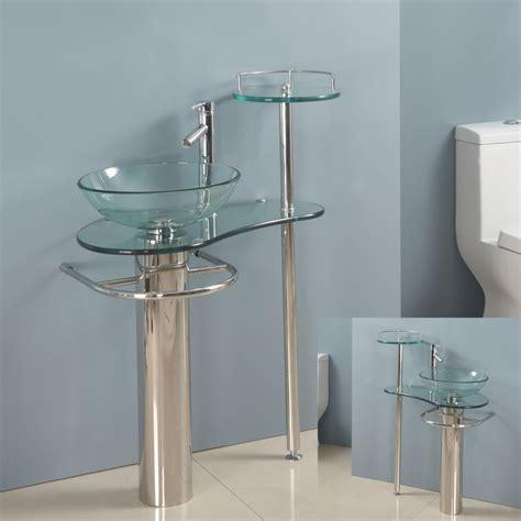 wall mounted bathroom sinks bathroom 16 glass sink ideas for bathroom stylishoms