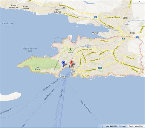 map  split croatia