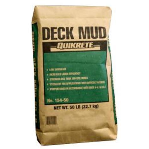 home depot quikrete floor mud quikrete 50 lb deck mud 154855 the home depot