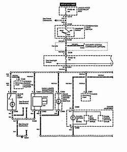 Acura Integra  1994 - 1998  - Wiring Diagrams - Instrument Panel Lamps