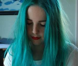 alpine green, alternative, blue hair, girl - image #624298 ...