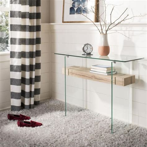 Kayley glass coffee table item: Safavieh Kayley Modern Console Table in the Console Tables department at Lowes.com