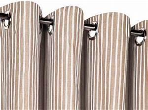 Stores Et Rideaux Com : rideaux en lin motifs sur mesure ~ Dailycaller-alerts.com Idées de Décoration