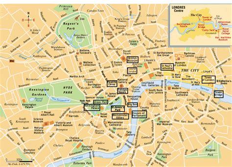 Carte Avec Monuments Historiques by Plan Londres Avec Monuments Astuces Voyages