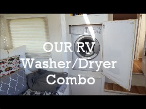 rv washer dryer combo   installed