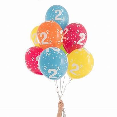 Birthday Balloons 2nd Balloon Anniversary Pop Age