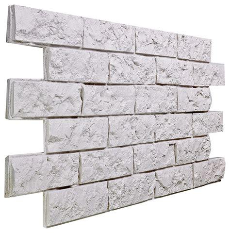white brick veneer small jerusalem brick wall panel almond traditional 1009