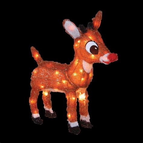 rudolph 18 in pre lit with blinking red nose 10521 the