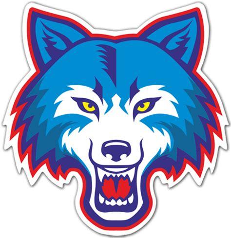 autocollants tete de loup