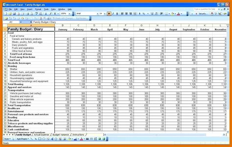 monthly income spreadsheet sowtemplate