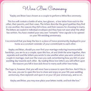 officiant wedding script wine box ceremony wine boxes and serendipity on