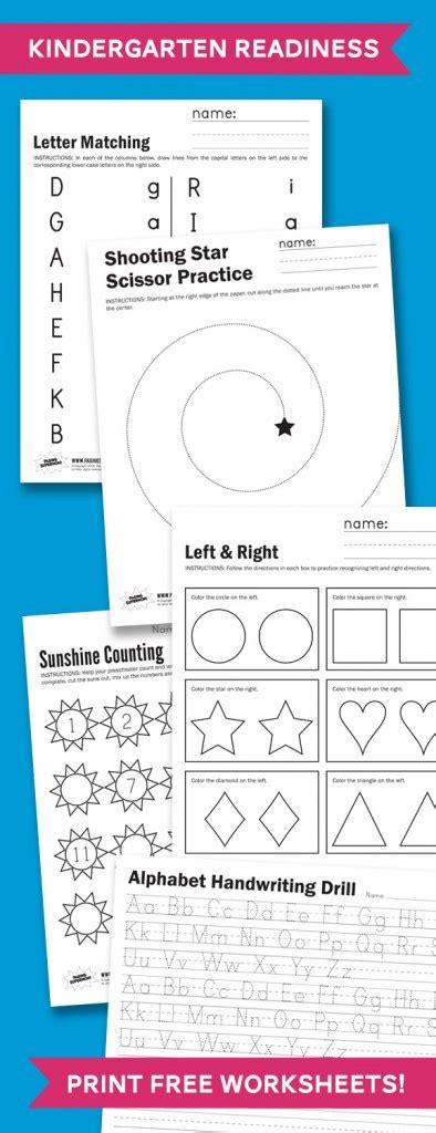 Free Kindergarten Readiness Printables  Free Homeschool Deals
