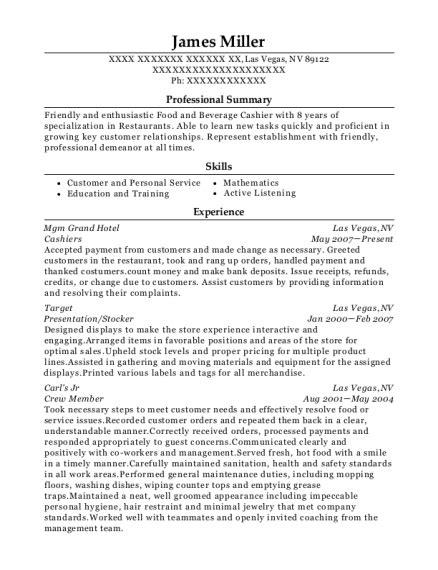 Crew Resume by Caesar S Crew Member Resume Sle Colorado