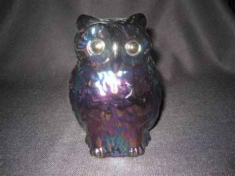 Fenton Owl L fenton large purple carnival owl 1971 from thedaisychain