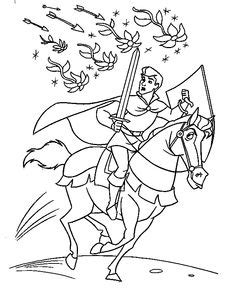 Prince Eric Flute Little Mermaid Coloring Pages