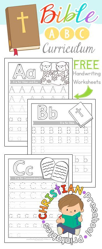 Free Bible Abc Curriculumsample Pack! Download Our Bible Abc Handwriting Pages Free At