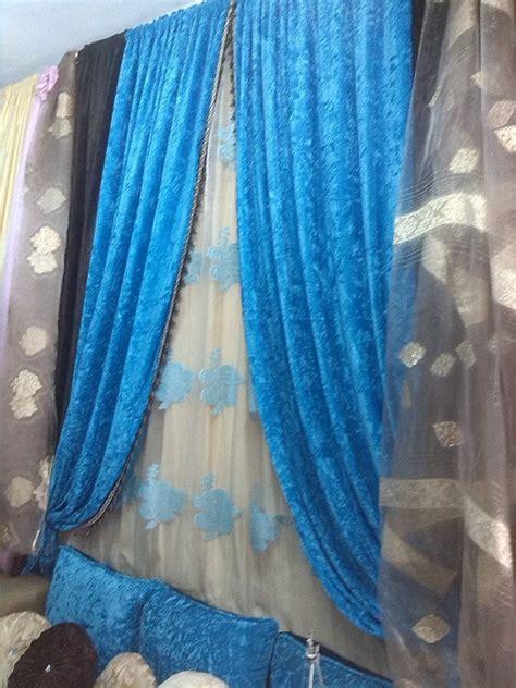 tendance rideaux salon marocain gris et noir 2015