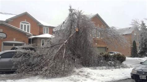 brampton power outage ice storm youtube