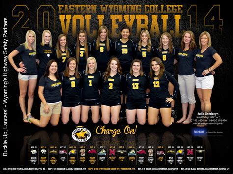 ewc volleyball posters eastern wyoming college