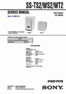 Sony Dav-ea20  Hcd-ea20 Service Manual