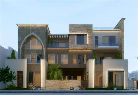 Modern Villa In Kuwait  Using 3ds Max , Vray And