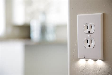 light outlet cover outlet covers with built in led lights simplemost