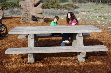 precast concrete picnic tables park site furnishings universal precast concrete inc
