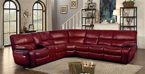 homelegance pecos reclining sectional set red leather With red leather sectional reclining sofa