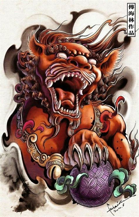 foo doglion guardian oriental tattoo design samurai tattoo tattoos japanese tattoo art