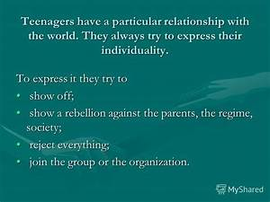 """Презентация на тему: """"How do teens express their ..."""
