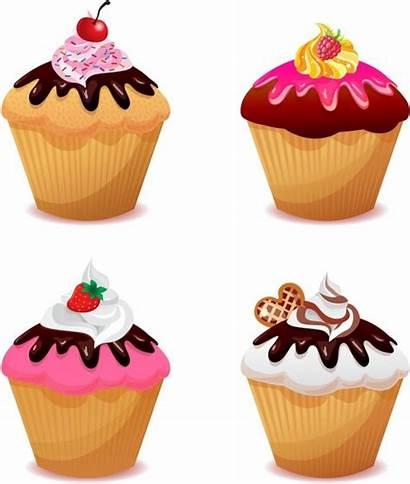 Cupcake Cupcakes Vector Clip Border Clipart Illustration