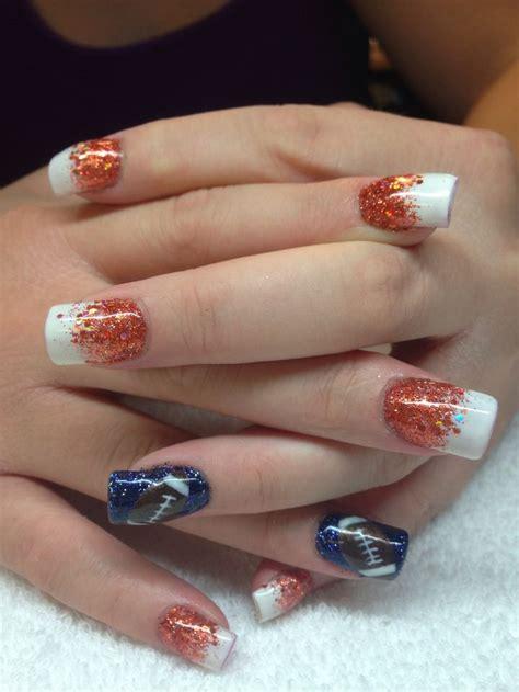 denver broncos nail designs 60 best images about denver broncos nails on