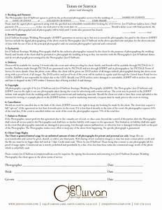 photography contracts free printable documents With wedding services contract