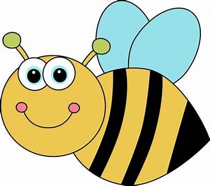 Bee Cartoon Clip Bumble Clipart Flying Heart