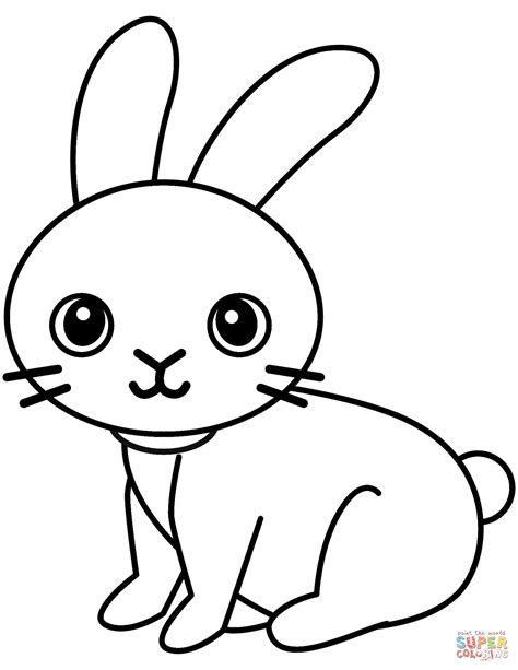 lovely rabbit coloring page  printable coloring pages