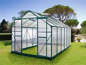 Kit Serre De Jardin : serre jardin polycarbonate dahlia vert sapin 10 7 m2 ~ Premium-room.com Idées de Décoration