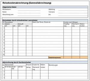 Abrechnung Muster : vorlage formular f r dienstreiseantrag reisekostenabrechnung und privatzung pkw f r ~ Themetempest.com Abrechnung