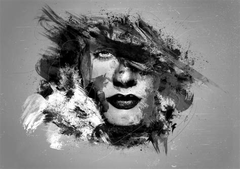 Abstract Faces Black And White by Black And White Abstract 8 Cool Wallpaper