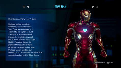 infinity war iron man mk  marvel  capcom infinite