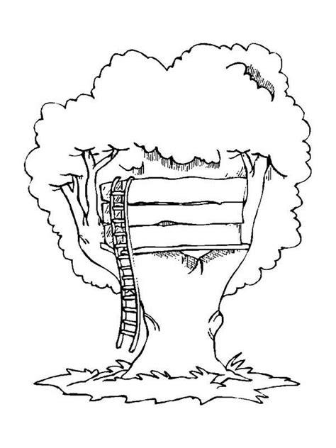 simple treehouse coloring page color luna