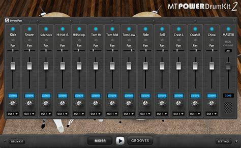 acoustic drum kit plug  mt power drum kit