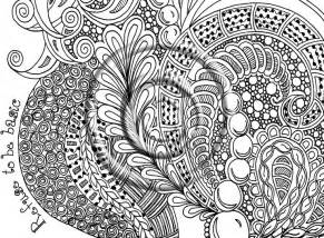 Printable Zentangle Coloring Pages Animals