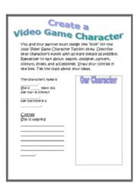 worksheets create a character