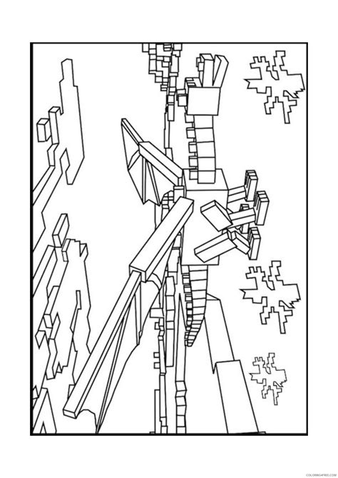 minecraft dragon coloring pages coloring home