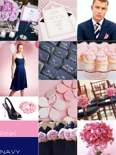 navy pink wedding colour palettes navy blue pink wedding