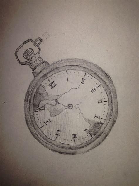 pencil drawing stopwatch tattoo pencil drawings