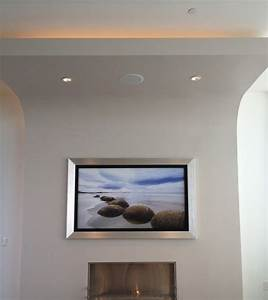 Fernseher An Die Wand : flachbildfernseher an die wand h ngen und rahmen lassen ~ Bigdaddyawards.com Haus und Dekorationen