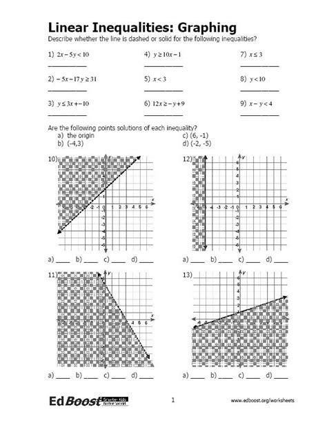 linear equations inequalities edboost