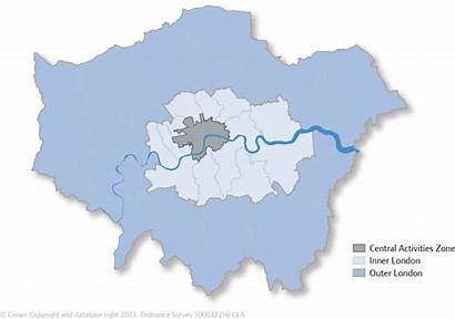 London Inner Outer Map Caz Regions Sub