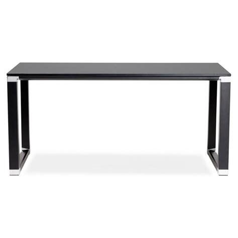 bureau bois noir bureau droit design bouny en bois noir
